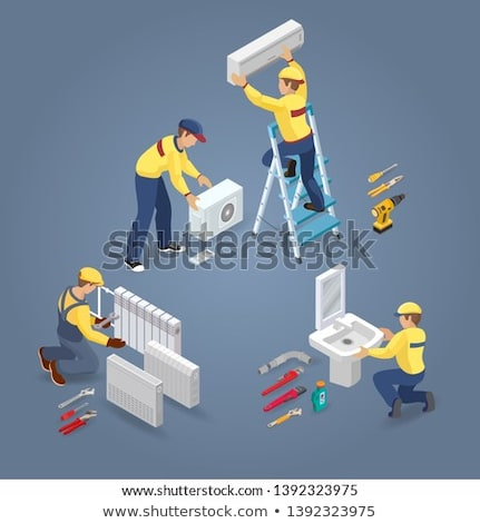 Conditioner System Repair isometric icon vector illustration Stock photo © pikepicture