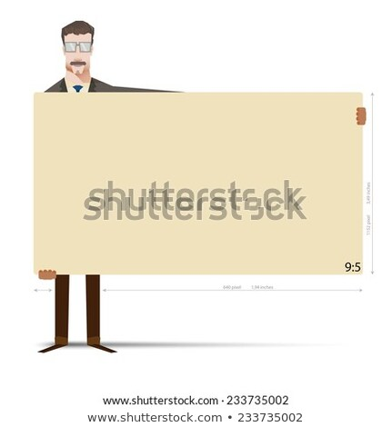 Man in suit carrying panel for message Stock photo © photography33