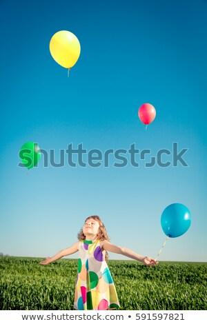 kırmızı · balonlar · mavi · gökyüzü · hava · gökyüzü - stok fotoğraf © imaster