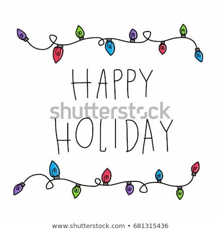 Christmas lights vector vintage background stock photo © krabata
