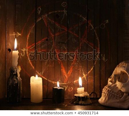 Pentacle- Religious symbol of satanism Stock photo © shawlinmohd