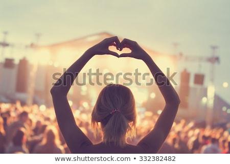 женщину концерта пения песня этап девушки Сток-фото © Aikon