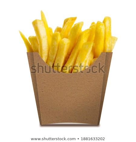 sültkrumpli · villa · forró · szürke · eszik · gyors - stock fotó © hofmeester