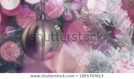 christmas decoration violet stock photo © Tomjac1980