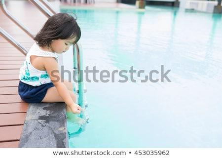Kız havuz yaz plaj su Stok fotoğraf © Peredniankina