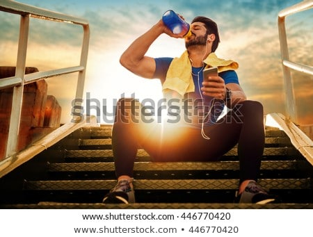 Drinking athlete. Stock photo © Reaktori