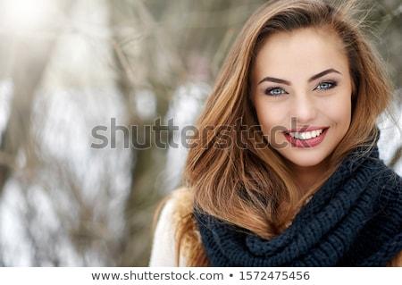 Bela mulher magnífico cabelo parque ensolarado retrato Foto stock © nenetus