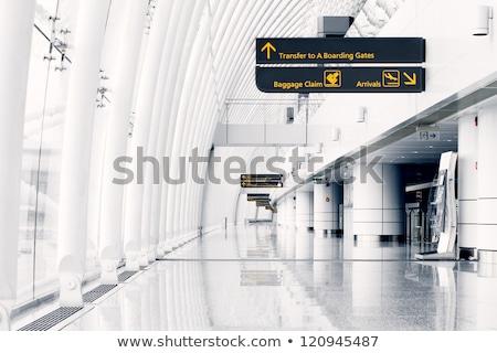 Korytarzu lotniska działalności świetle niebieski piętrze Zdjęcia stock © zurijeta