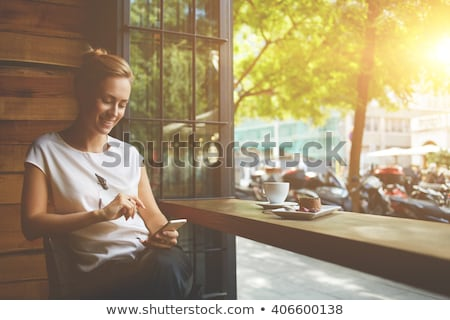 Women resting in cafe Stock photo © bezikus