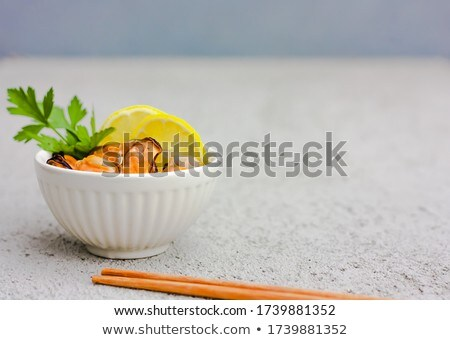 boiled mussels with lemon Stock photo © Antonio-S