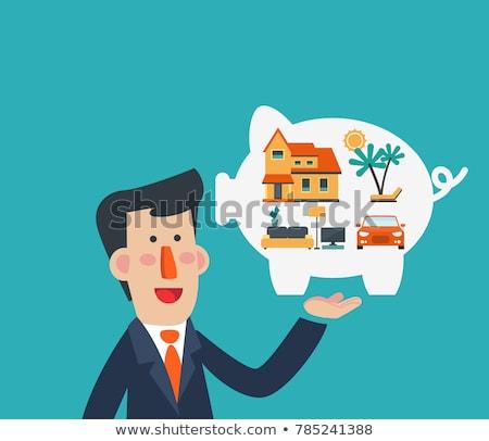 family financial plan shopping vector illustration stock photo © robuart