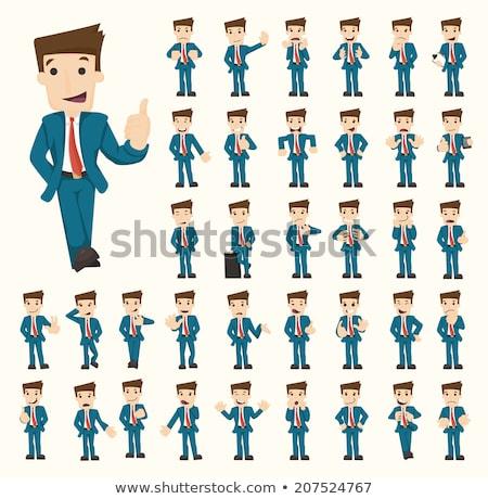 Funny hombre traje Cartoon ilustración Foto stock © izakowski