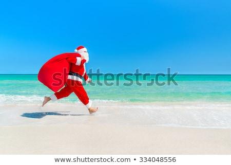 homem · seis · praia · tropical · natal · férias - foto stock © nito