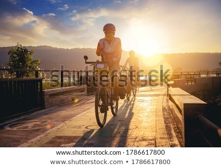motosiklet · park · boş · otopark · hizmet · trafik - stok fotoğraf © vapi