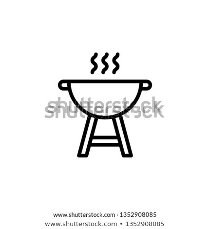 BBQ Hot Party Barbeque Icon Vector Illustration Stock photo © robuart