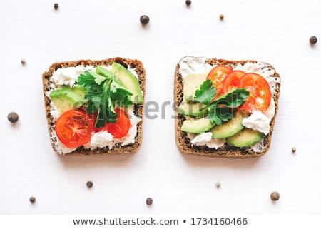 Toasts with feta Stock photo © AGfoto