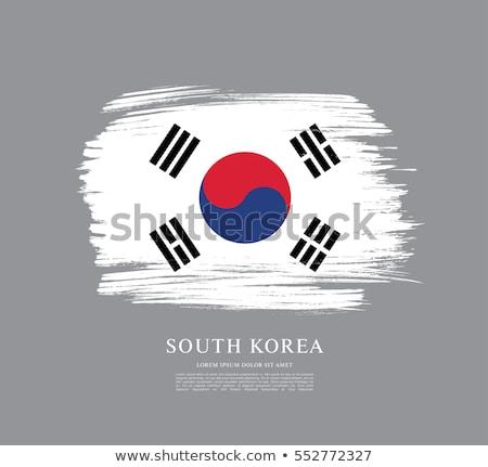 Corea · del · Sur · bandera · banderas · tierra - foto stock © daboost