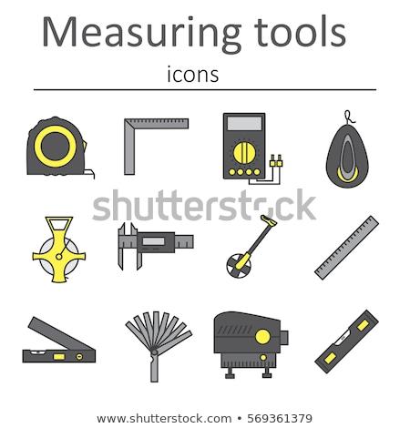 Laser Ebene Tool Symbol Farbe Design Stock foto © angelp