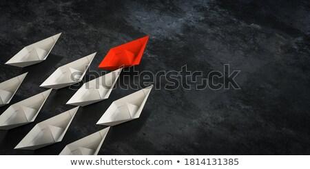 Takım kırmızı lider 3D 3d render örnek Stok fotoğraf © djmilic