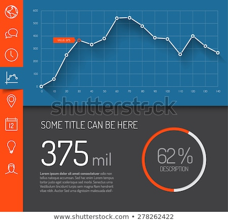Graphic Chart Representation of Information Report Stock photo © robuart
