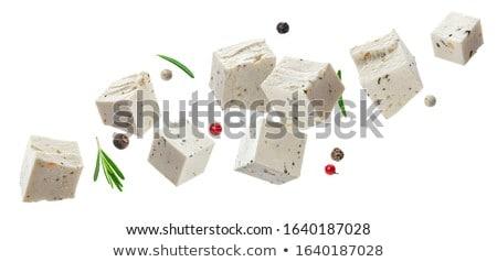 新鮮な フェタチーズ スパイス オリーブオイル 食品 白 ストックフォト © furmanphoto