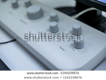 Painel de controle elétron microscópio medicina laboratório lab Foto stock © galitskaya