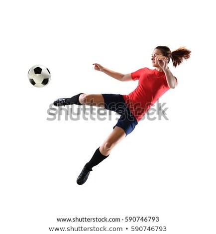 Asia · futbolista · formación · patear · balón · de · fútbol · hombre - foto stock © lopolo