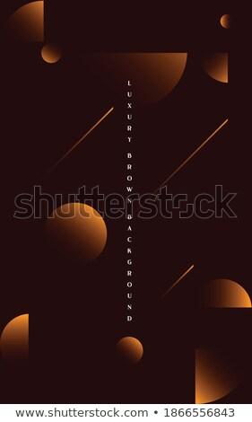 şık altın 3D dalga soyut prim Stok fotoğraf © SArts