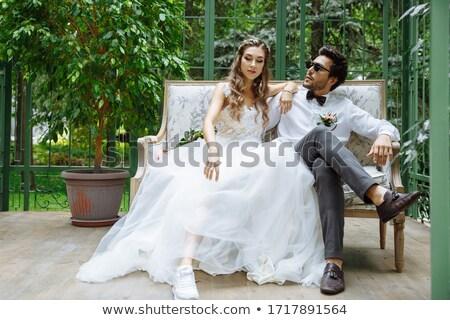 Prova vestido de noiva ilustração mulher menina casamento Foto stock © adrenalina