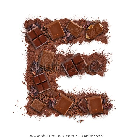 Letter E made of chocolate bar  Stock photo © grafvision