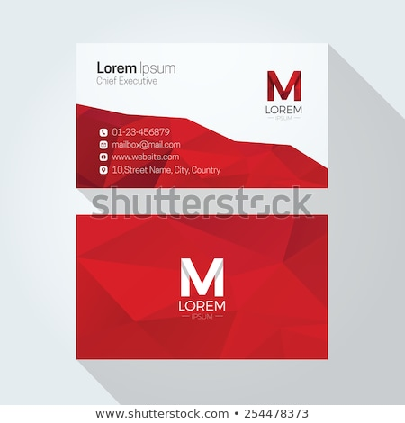 modern red geometric business card template design Stock photo © SArts