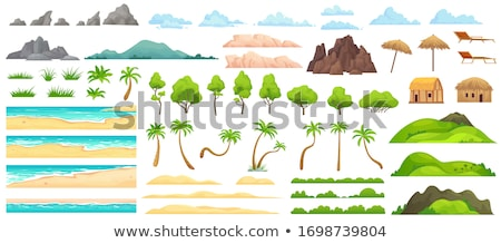 Set of sandy beach background Stock photo © bluering