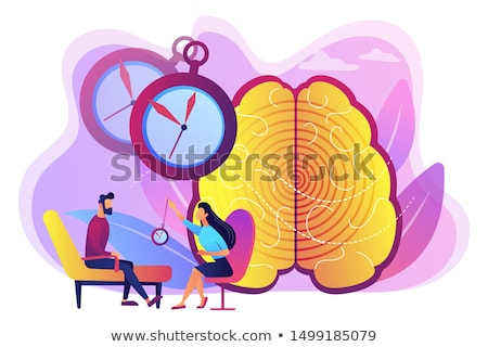 Hypnosis practice abstract concept vector illustration. Stock photo © RAStudio