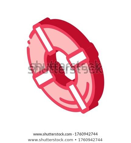 Isométrica ícone vetor assinar cor isolado Foto stock © pikepicture