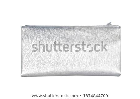 çanta · gümüş · madeni · para · eski - stok fotoğraf © simply