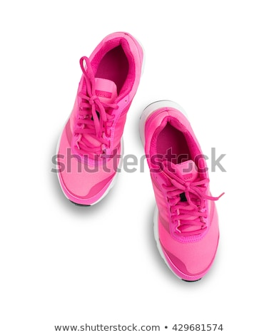 pink shoes isolated stock photo © ozaiachin