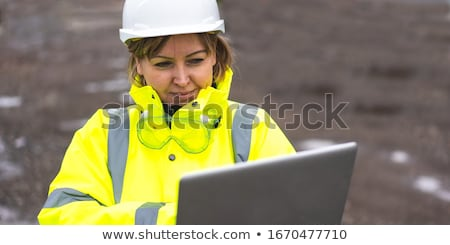 Foreman with mobile and laptop Stock photo © photography33