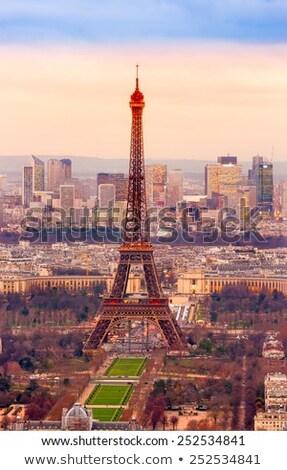 Felhőkarcolók turné Eiffel modern városi Párizs Stock fotó © cla78