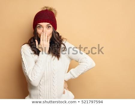 Kadın kış elbise çekici genç yetişkin Stok fotoğraf © Spectral