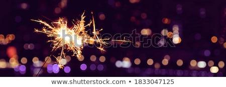 бенгальский огонь sparks вечеринка огня темно фейерверк Сток-фото © mobi68