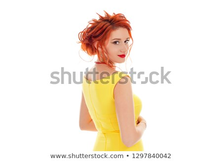 Pretty lady turning back and looking at you Stock photo © stockyimages