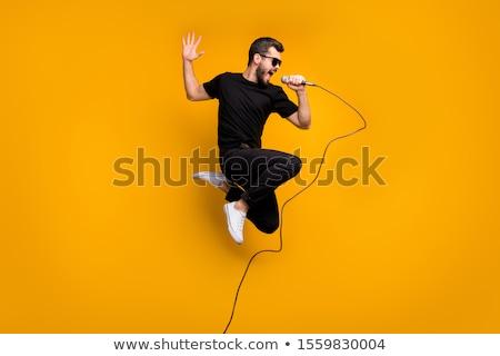 男 · 歌 · マイク · 楽しい · 現代 - ストックフォト © photography33