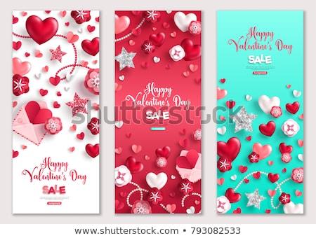 valentin · nap · kártya · hely · szöveg · szeretet · szív - stock fotó © kariiika
