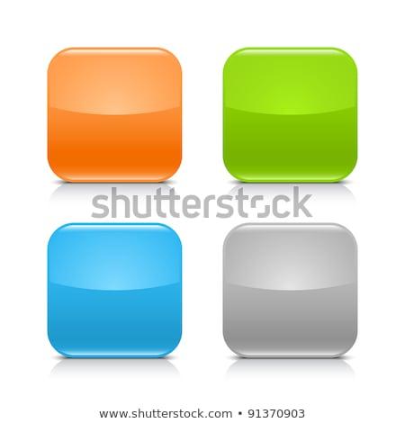 Laranja vítreo botões ilustração vetor Foto stock © derocz