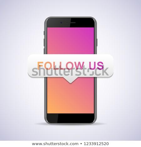 Follow Us Concept in Flat Design. Stock photo © tashatuvango