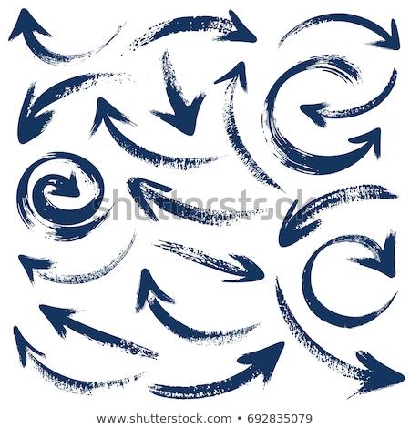 セット · ベクトル · 手描き · インク · ブラシ - ストックフォト © burakowski