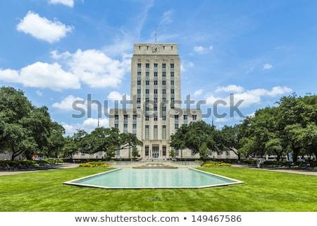 ciudad · sala · fuente · bandera · Houston · cielo - foto stock © meinzahn