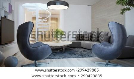 interior design  egg chair stock photo © shawlinmohd