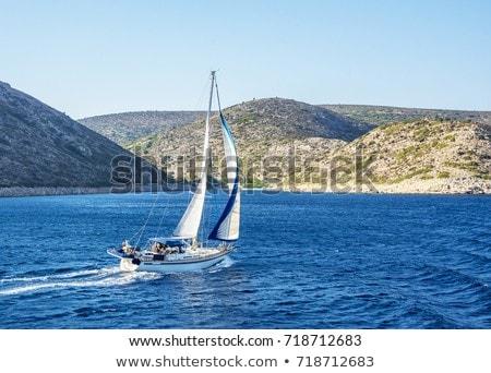 Rocky island in the sea. Stock photo © rglinsky77