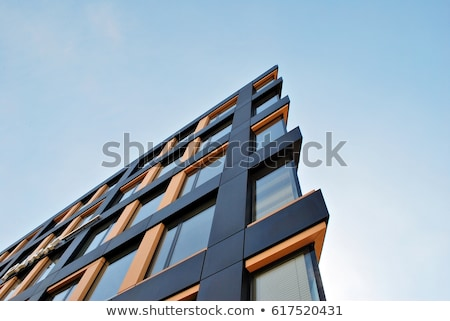 Fachada edifício moderno pormenor edifício cidade banco Foto stock © elxeneize